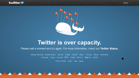 A low-resolution screenshot of the Fail Whale on Twitter